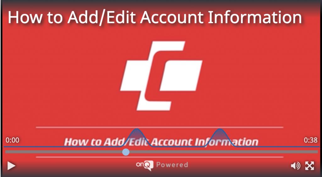 Watch Add/Edit - Account Information