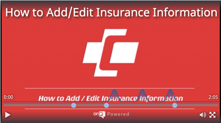 How to Add/Edit Insurance Information