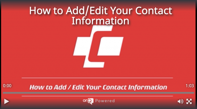 How to Add/Edit Your Contact Information
