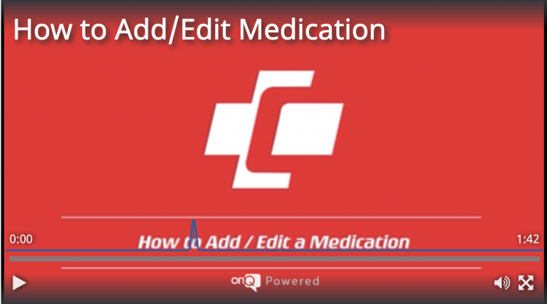 How to Add/Edit a Medication