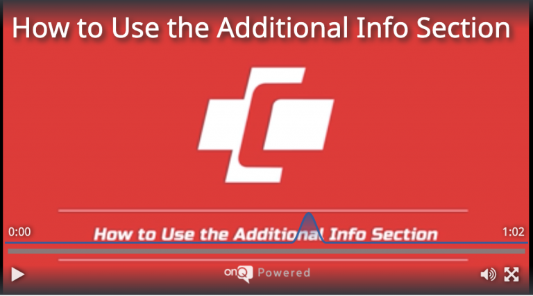 How to Use the Additional Info Section