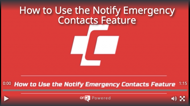 How to Use the Notify Emergency Contacts Feature